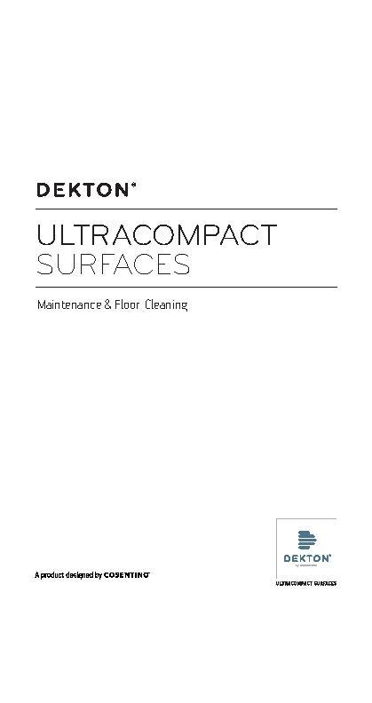 Dekton Flooring - Cleaning and Maintenance