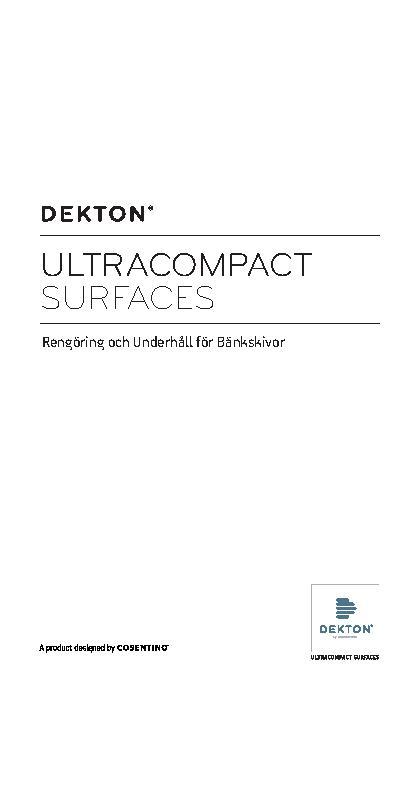 Dekton Worktops - Cleaning and Maintenance