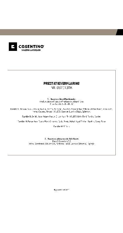 Dekton Performances Declaration