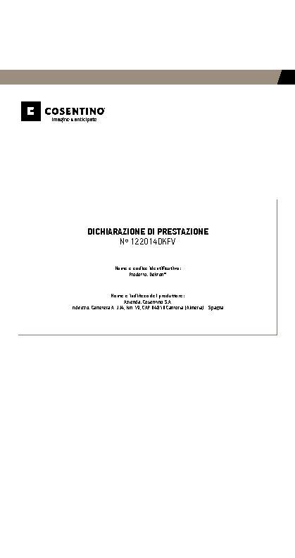 Dekton Performances Declaration - Ventilated Facades
