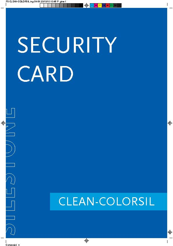 MSDS Security Data Sheet Clean Colorsil