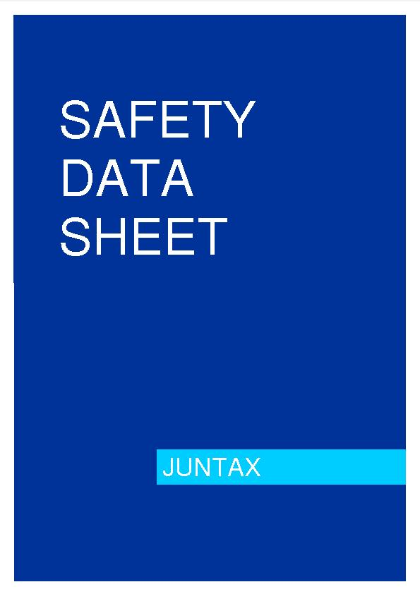 MSDS Security Data Sheet Juntax