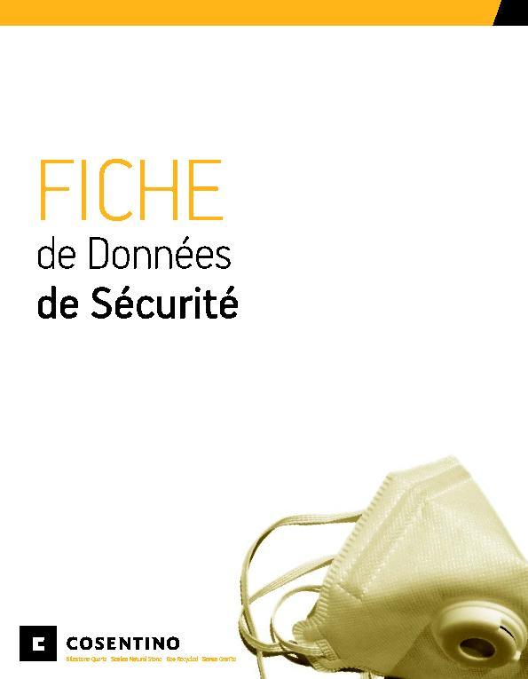 MSDS Security Data Sheet Silestone