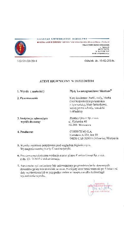 Hygienic-certificate