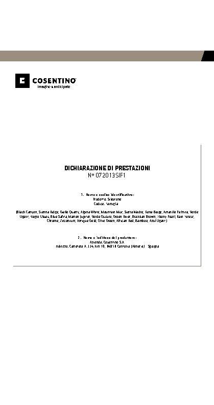 Silestone Declaration Performances Fam I