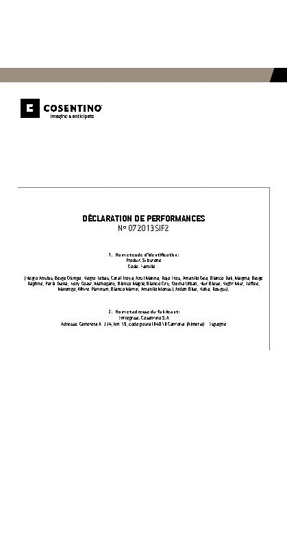 Silestone Declaration Performances Fam II