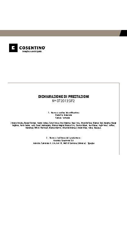 Silestone Declaration Performances Fam II