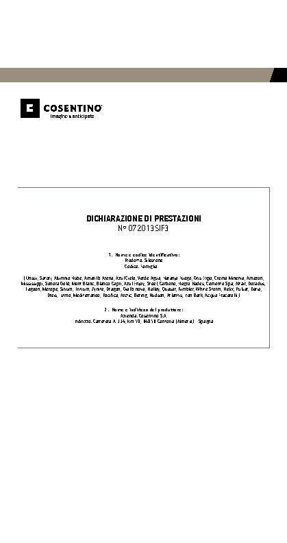 Silestone Declaration Performances Fam III