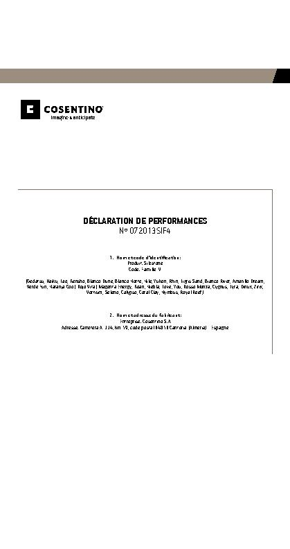 Silestone Declaration Performances Fam IV