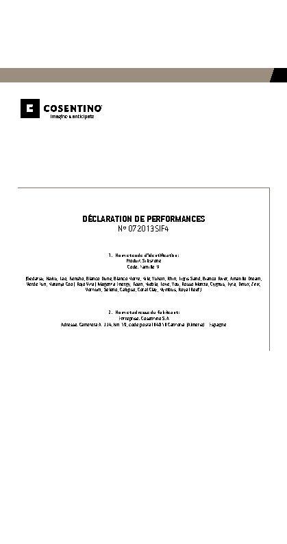 Silestone Declaration Performances Fam IV