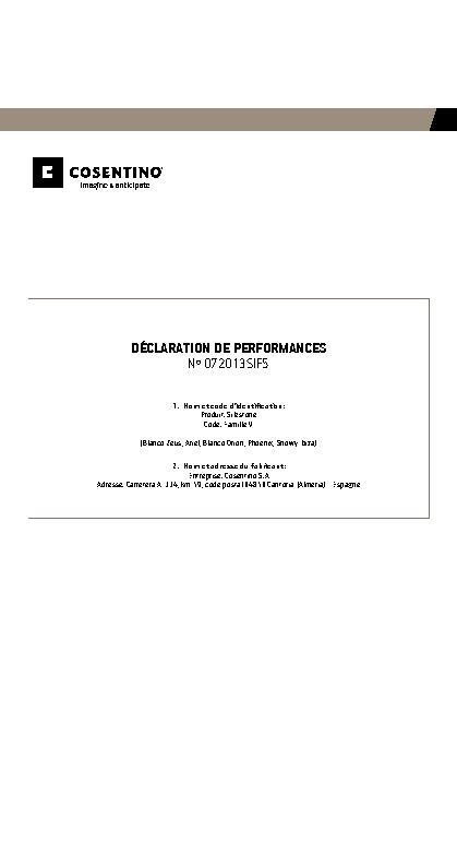 Silestone Declaration Performances Fam V