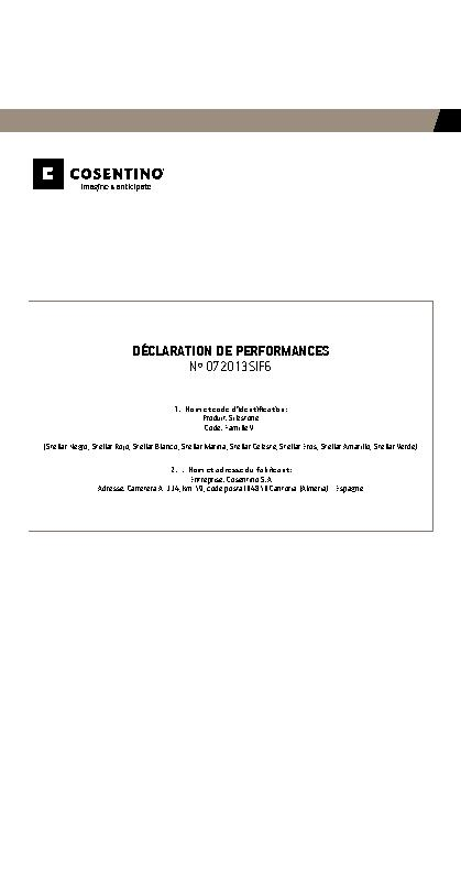 Silestone Declaration Performances Fam VI