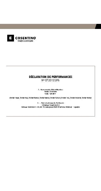 Silestone Declaration Performances Fam VI