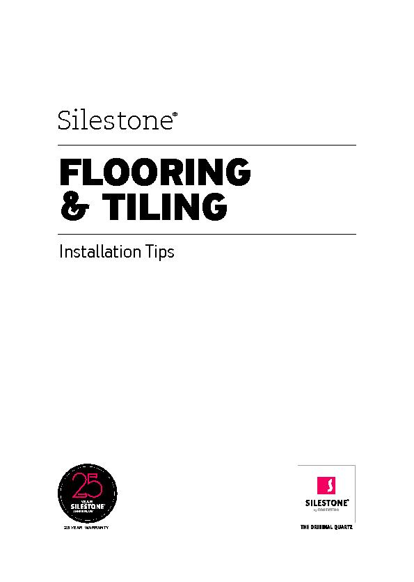 Flooring tiling installation tips